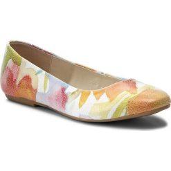 Baleriny BALDACCINI - 786500-B Kwiaty Kolorowe. Szare baleriny damskie lakierowane Baldaccini, w kolorowe wzory, ze skóry, na płaskiej podeszwie. W wyprzedaży za 169,00 zł.
