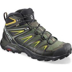 Buty trekkingowe męskie: Salomon Buty męskie X Ultra 3 Mid GTX Castor Gray/Black/Green Sulphur r. 44 2/3 (401337)