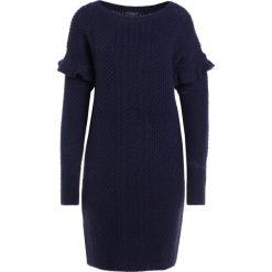 Sukienki: J.CREW HOLDEN CABLE RUFFLE SLEEVE Sukienka dzianinowa navy