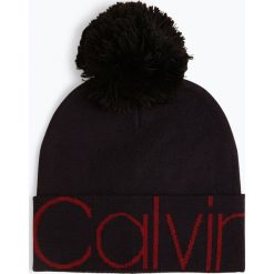Calvin Klein - Czapka damska, niebieski. Niebieskie czapki damskie Calvin Klein. Za 199,95 zł.