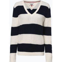 Tommy Jeans - Sweter damski, niebieski. Niebieskie swetry klasyczne damskie marki Tommy Jeans, xs, z dzianiny. Za 449,95 zł.