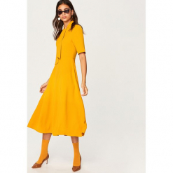Żółta sukienka - Żółty. Żółte sukienki marki Reserved. Za 119,99 zł.