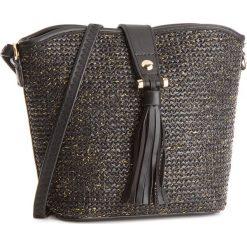 Torebka JENNY FAIRY - RH1033 Czarny. Czarne torebki klasyczne damskie Jenny Fairy, ze skóry ekologicznej, na ramię. Za 69,99 zł.