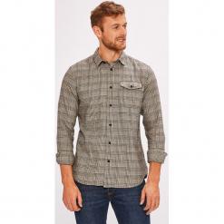 Selected - Koszula. Szare koszule męskie na spinki Selected, l, w kratkę, z bawełny, z klasycznym kołnierzykiem, z długim rękawem. W wyprzedaży za 159,90 zł.
