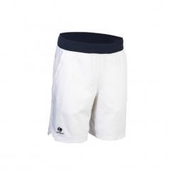 Spodenki 900 Jr białe. Białe spodenki i szorty męskie ARTENGO, z elastanu, młodzieżowe. W wyprzedaży za 29,99 zł.