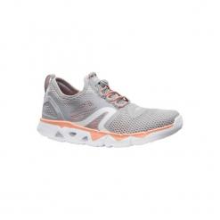 Buty damskie do szybkiego marszu PW 500 Fresh szaro-koralowe. Szare buty do fitnessu damskie marki Geox, z materiału. Za 129,99 zł.
