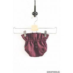 LEN bloomersy berry. Brązowe spodnie niemowlęce Pakamera, ze lnu. Za 67,00 zł.