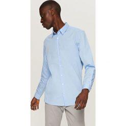 Elegancka koszula z tkaniny poplin - Niebieski. Niebieskie koszule męskie Reserved, m, z tkaniny. Za 79,99 zł.