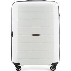 Walizka duża 56-3T-723-88. Białe walizki marki Wittchen, z gumy, duże. Za 249,00 zł.