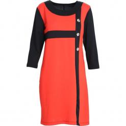 Czarno-Czerwona Sukienka Since You're Gone. Czarne sukienki marki Born2be, na jesień, xl, midi, oversize. Za 39,99 zł.