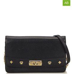 Torebki klasyczne damskie: Skórzana torebka w kolorze czarnym – 20 x 12 x 3 cm