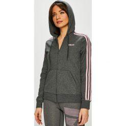 Adidas Performance - Bluza. Szare bluzy z kapturem damskie adidas Performance, l, z bawełny. Za 229,90 zł.