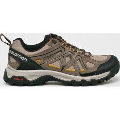 Salomon - Buty. Szare buty trekkingowe męskie marki Salomon, z gore-texu, na sznurówki, outdoorowe, gore-tex. Za 379,90 zł.