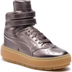 Sneakersy PUMA - Platform TraceStmt Luxy Wns 366996 01 Quiet Shade/Quiet Shade. Szare sneakersy damskie Puma, z materiału. W wyprzedaży za 409,00 zł.
