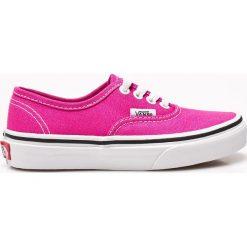Vans - Tenisówki dziecięce. Szare buty sportowe dziewczęce marki Vans, z materiału, na sznurówki. W wyprzedaży za 129,90 zł.