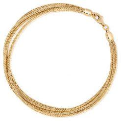 Wyjątkowa Bransoletka Złota - złoto żółte 585. Żółte bransoletki damskie na nogę W.KRUK, złote. Za 2890,00 zł.
