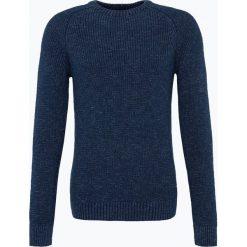 Jack & Jones - Sweter męski – Jorumut, niebieski. Czarne swetry klasyczne męskie marki Jack & Jones, l, z bawełny, z okrągłym kołnierzem. Za 129,95 zł.