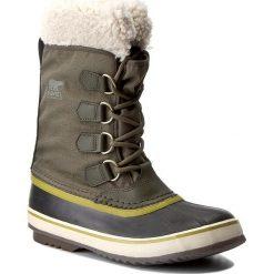 Śniegowce SOREL - Winter Carnival NL1495 Peatmoss 214. Zielone śniegowce damskie Sorel, z gumy. W wyprzedaży za 289,00 zł.