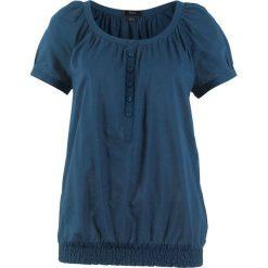 Bluzka, krótki rękaw bonprix ciemnoniebieski. Niebieskie bluzki asymetryczne bonprix, z krótkim rękawem. Za 37,99 zł.