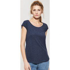 Gładki t-shirt - Granatowy. Niebieskie t-shirty męskie marki House, l. Za 17,99 zł.