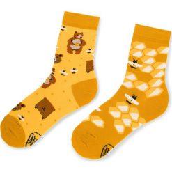 Skarpety Wysokie Unisex MANY MORNINGS - Honey Bear Żółty. Żółte skarpetki męskie marki Many Mornings, z bawełny. Za 29,00 zł.