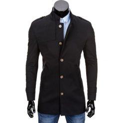 PŁASZCZ MĘSKI C269 - CZARNY. Czarne płaszcze na zamek męskie Ombre Clothing, m, z bawełny, eleganckie. Za 149,00 zł.
