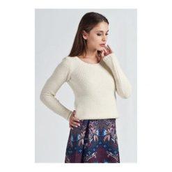 Swetry klasyczne damskie: Sweter Iga ecru