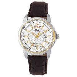 Biżuteria i zegarki męskie: Zegarek Q&Q  A184-501 Męski Czarno-srebrny