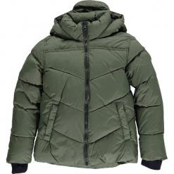 Kurtka zimowa w kolorze khaki. Brązowe kurtki chłopięce zimowe marki CMP Kids, z polaru. W wyprzedaży za 175,95 zł.