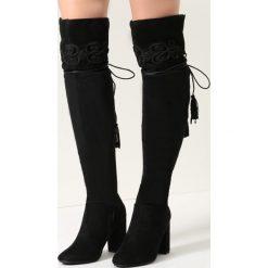 Czarne Kozaki Lady Of Solitude. Czarne buty zimowe damskie vices, na wysokim obcasie. Za 169,99 zł.