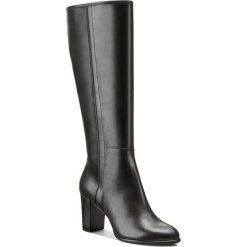 Kozaki GINO ROSSI - Frida DKG568-F87-3V00-9900-F Czarny 99. Czarne buty zimowe damskie Gino Rossi, z materiału, przed kolano, na wysokim obcasie, na obcasie. W wyprzedaży za 369,00 zł.