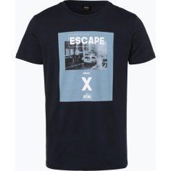 BOSS Casual - T-shirt męski – Topwork 4, niebieski. Niebieskie t-shirty męskie z nadrukiem BOSS Casual, l. Za 179,95 zł.