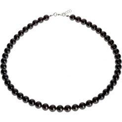 Naszyjniki damskie: Naszyjnik z pereł w kolorze czarnym – dł. 45 cm