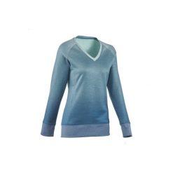 Sweter turystyczny NH150 damski. Zielone swetry klasyczne damskie marki QUECHUA, l. W wyprzedaży za 29,99 zł.