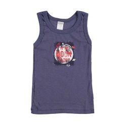 T-shirty chłopięce z nadrukiem: Podkoszulek w kolorze szaroniebieskim