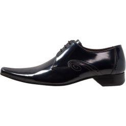 Jeffery West PINO CENTRE SEAM 3 EYE DERBY Eleganckie buty navy. Niebieskie buty wizytowe męskie Jeffery West, z materiału, na sznurówki. Za 749,00 zł.