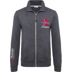 """Sweter rozpinany """"Visby"""" w kolorze czarnym. Czarne golfy męskie Nebulus, m, z nadrukiem. W wyprzedaży za 122,95 zł."""