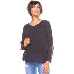 """Bluzki asymetryczne: Bluzka """"Lee"""" w kolorze czarnym"""