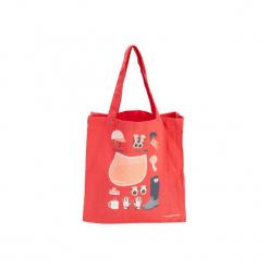 Torba jeździecka na przybory bawełniana. Czerwone torebki klasyczne damskie FOUGANZA, z bawełny. Za 14,99 zł.