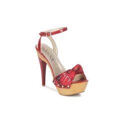 Sandały StylistClick  DUNE. Czerwone sandały trekkingowe damskie marki StylistClick, na platformie. Za 125,30 zł.