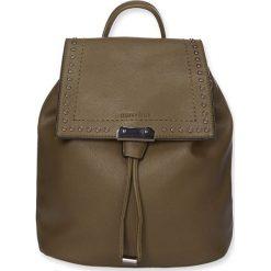 """Plecaki damskie: Plecak """"Milan"""" w kolorze khaki – 31 x 26 x 14 cm"""