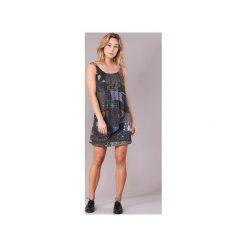 Sukienki krótkie Desigual  PAOLDER. Szare sukienki mini marki Desigual, z krótkim rękawem. Za 279,30 zł.