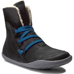 Botki CAMPER - Peu Cami 46477-036 Black. Czarne buty zimowe damskie Camper, z nubiku. W wyprzedaży za 419,00 zł.