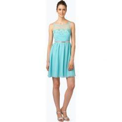 Suddenly Princess - Damska sukienka koktajlowa, niebieski. Niebieskie sukienki balowe Suddenly Princess, w koronkowe wzory, z koronki. Za 449,95 zł.