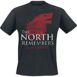 Gra o Tron House Stark - The North Remembers T-Shirt czarny. Niebieskie t-shirty męskie z nadrukiem marki Reserved, l, z okrągłym kołnierzem. Za 89,90 zł.