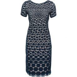 Sukienki hiszpanki: Sukienka bonprix ciemnoniebiesko-beżowy