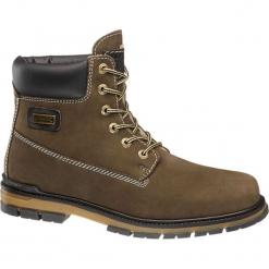 Kozaki męskie AM SHOE brązowe. Brązowe buty zimowe męskie AM SHOE, z materiału, na sznurówki. Za 219,90 zł.