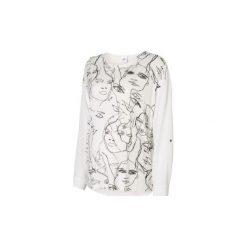 Bluzki ciążowe: MAMA LICIOUS Bluzka z długim rękawem FACE MIX TOP snow White