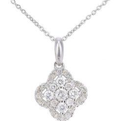 Naszyjniki damskie: Złoty naszyjnik z diamentami – dł. 46 cm