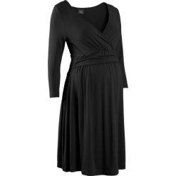 Sukienki ciążowe: Sukienka dla ciężarnych i karmiących z dżerseju bonprix czarny
